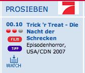 Happy Halloween oder: Seltsame TV- Kategorien VIII