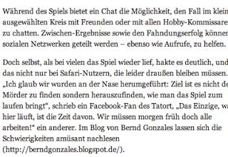 """1 Jahr nach: Tatort-Plus – """"Der Wald steht schwarz und schweiget"""" – Das Online Spiel"""
