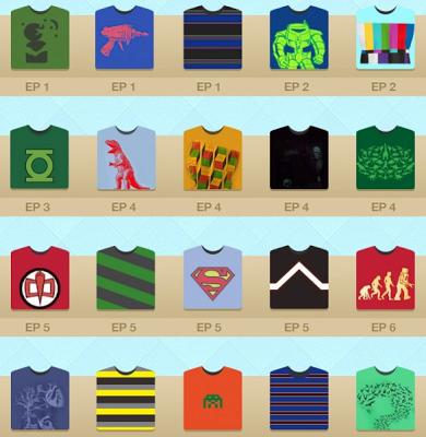 Sheldon Cooper trägt ein T- Shirt