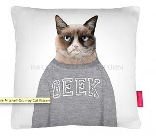 Jamie Mitchell Grumpy Cat Kissen