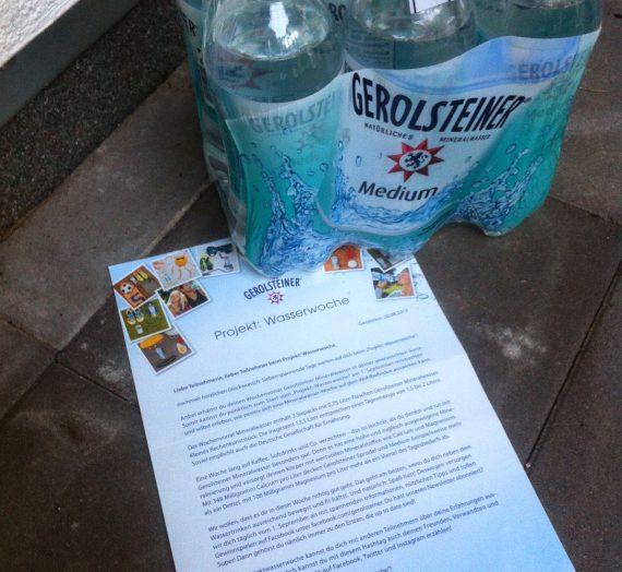 Gerolsteiner – Projekt Wasserwoche – Tag 0
