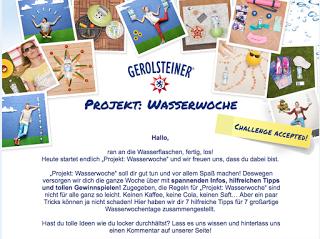 Gerolsteiner – Projekt Wasserwoche – Tag 1