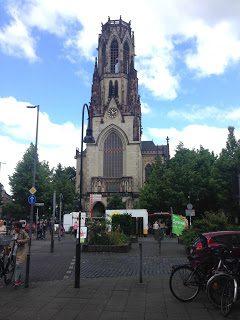 Ökomarkt auf dem Neusser Platz in Köln