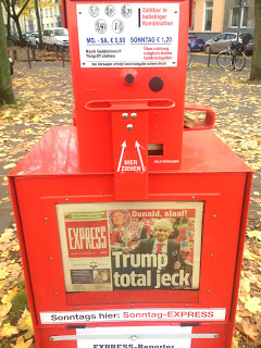 Express Kasten 11.11. in Köln Trump
