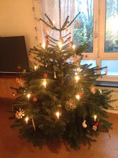 Geschmückter Weihnachtsbaum (Nordmanntanne)