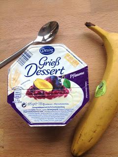 Für was habe ich mich entschieden: Grieß Dessert oder Banane?
