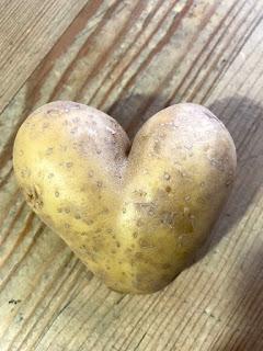 Ein Herz aus einer Kartoffel