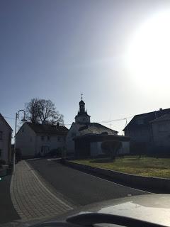 Die Sonne lacht: Evangelische Kirche zu Bad Marienberg