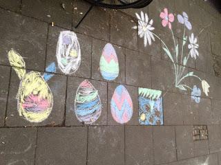 Frohe Ostern! Kreide- Eier