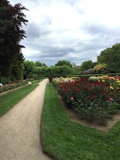 Rosengarten Fort X Köln: Rosen und gepflegte Wege