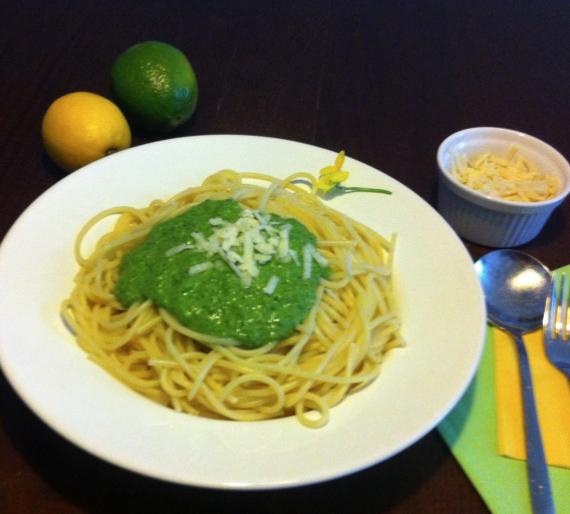 Pasta mit Portulak – (oder Postelein) Pesto