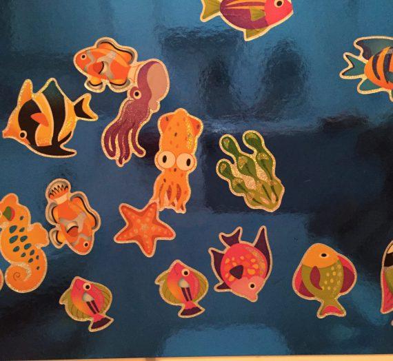 """Basteln mit Kindern: Ein """"Ich werde trocken!"""" – Aufkleber – Aquarium"""