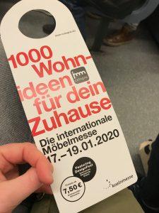Anhänger Internationale Möbelmesse Köln 2020