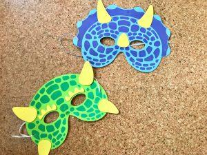 Kindergeburtstag Dinosaurier Dino Maske
