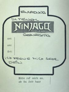 Einladung Ninjago Geburtstag