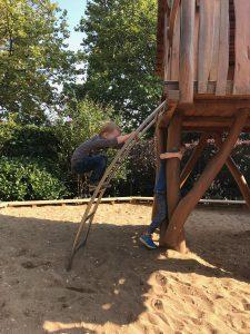 Gertrudenhof Klettern Sandkasten Spielplatz