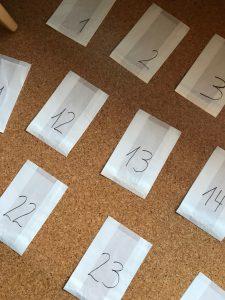 Adventskalender Tütchen Zahlen
