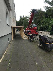 Kran Bauarbeiten